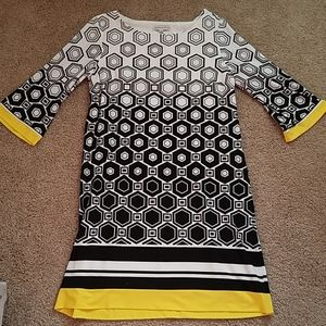 Women's Size 14 Sandra Darren 3/4 Sleeve Dress